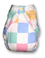 patchwork print one sized fitted cloth diaper