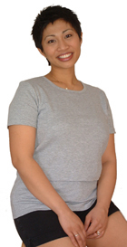 Short Sleeve Crop Nursing Tunic