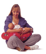 Baby Nursing in Boppy Nursing Pillow