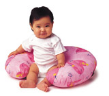 Baby in Boppy Nursing Pillow